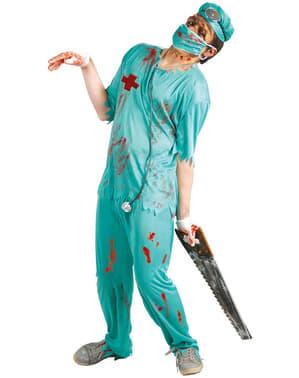 Déguisement de chirurgien de table d'opération zombie