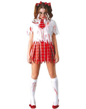 Costum de școlăriță zombie