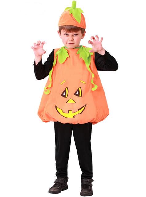 Costum dovleac Halloween pentru copii