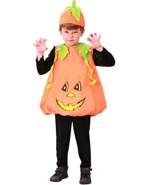 Fato de abóbora Halloween infantil