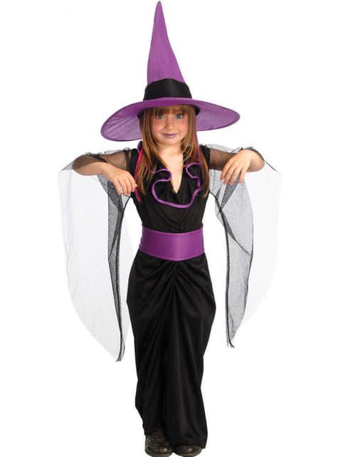 Disfraz de bruja drújula para niña