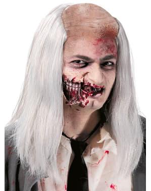 Zombie pruik met kale plek