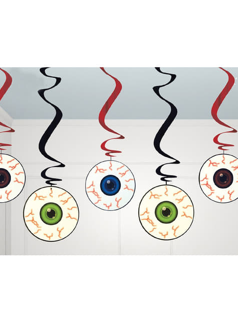 Setti ripustettavia silmäkoristeita