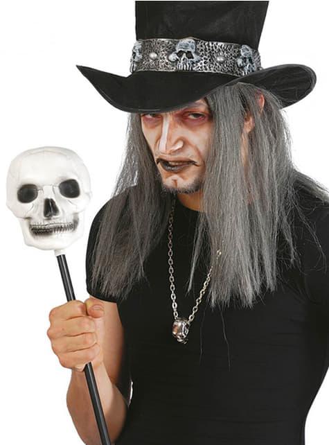 Sceptre de sorcier avec crâne