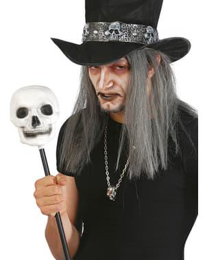 Hexen Zepter mit Totenkopf