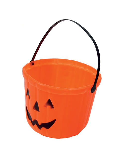 Trick or Treat Pumpkin Bucket (20 cm)