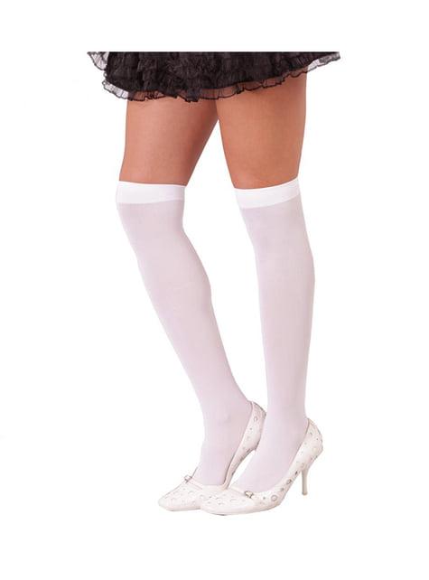 Calcetines altos blancos