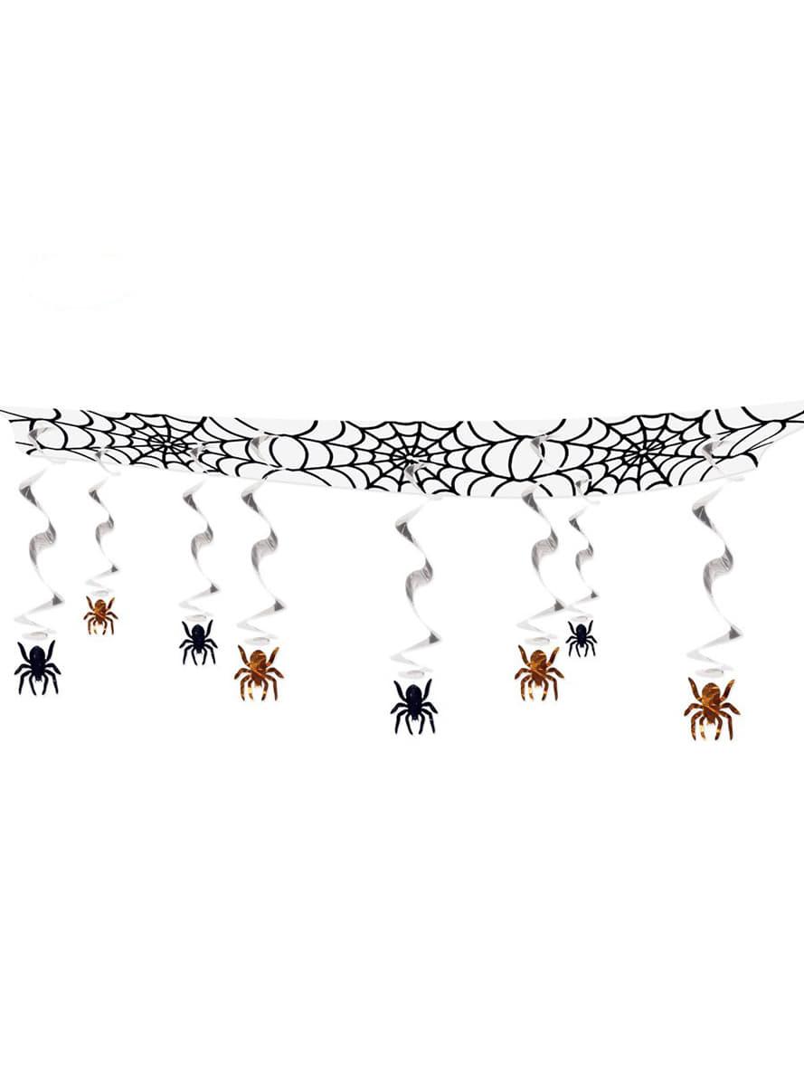 Guirlande d 39 araign es halloween acheter en ligne sur funidelia - Guirlande d halloween ...
