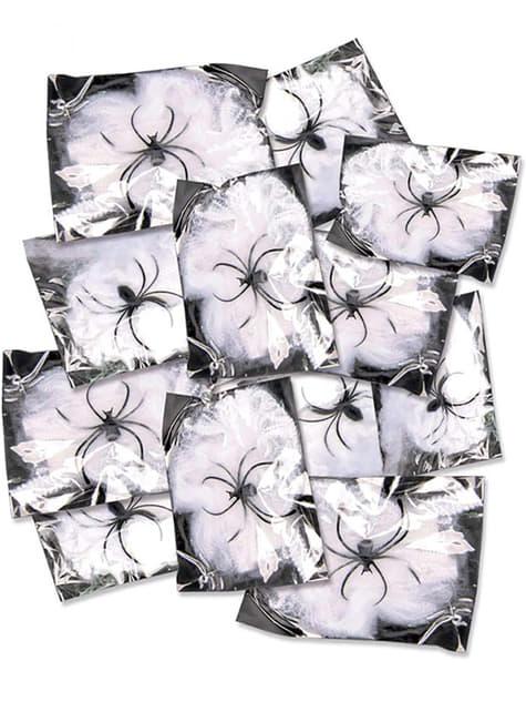12 sachets de 12 gr. de toiles d'araignée