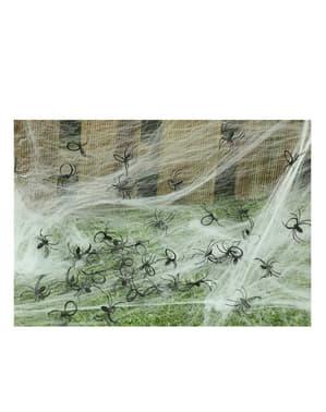 Pakke med 50 dekorative edderkopper