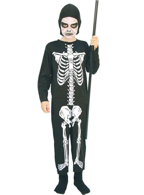 Boys Bony Skeleton Costume