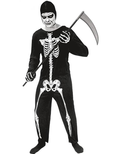 Disfraz de esqueleto de la muerte