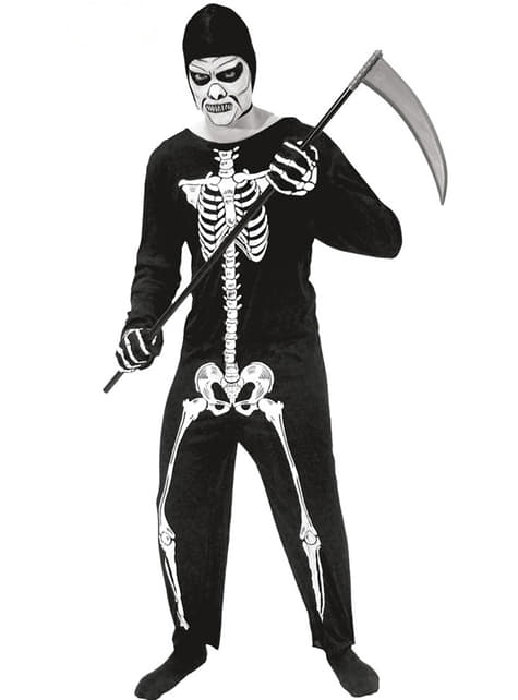 Fato de esqueleto da morte