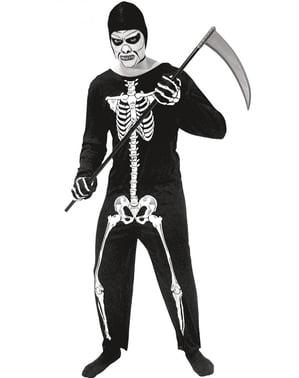 Dødskjelett kostyme