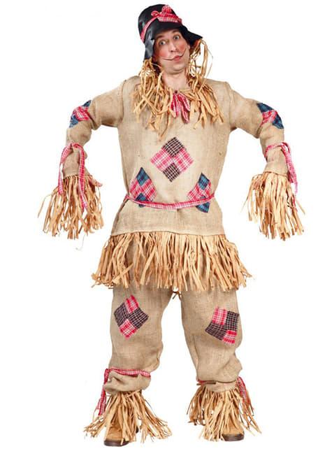 Disfraz de espantapájaros de paja para hombre