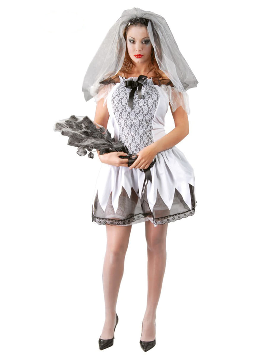 Womens Sexy Dead Bride Costume. Express delivery  06b5708139ee