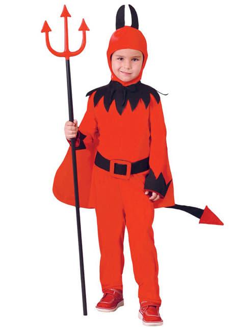 Infernalsk djevel Kostyme for gutt