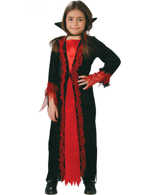 Girls Little Vampiress Costume