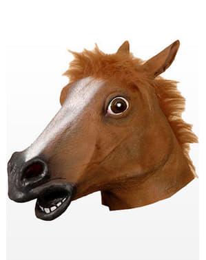 Costume da maschera di lattice da cavallo pazzo