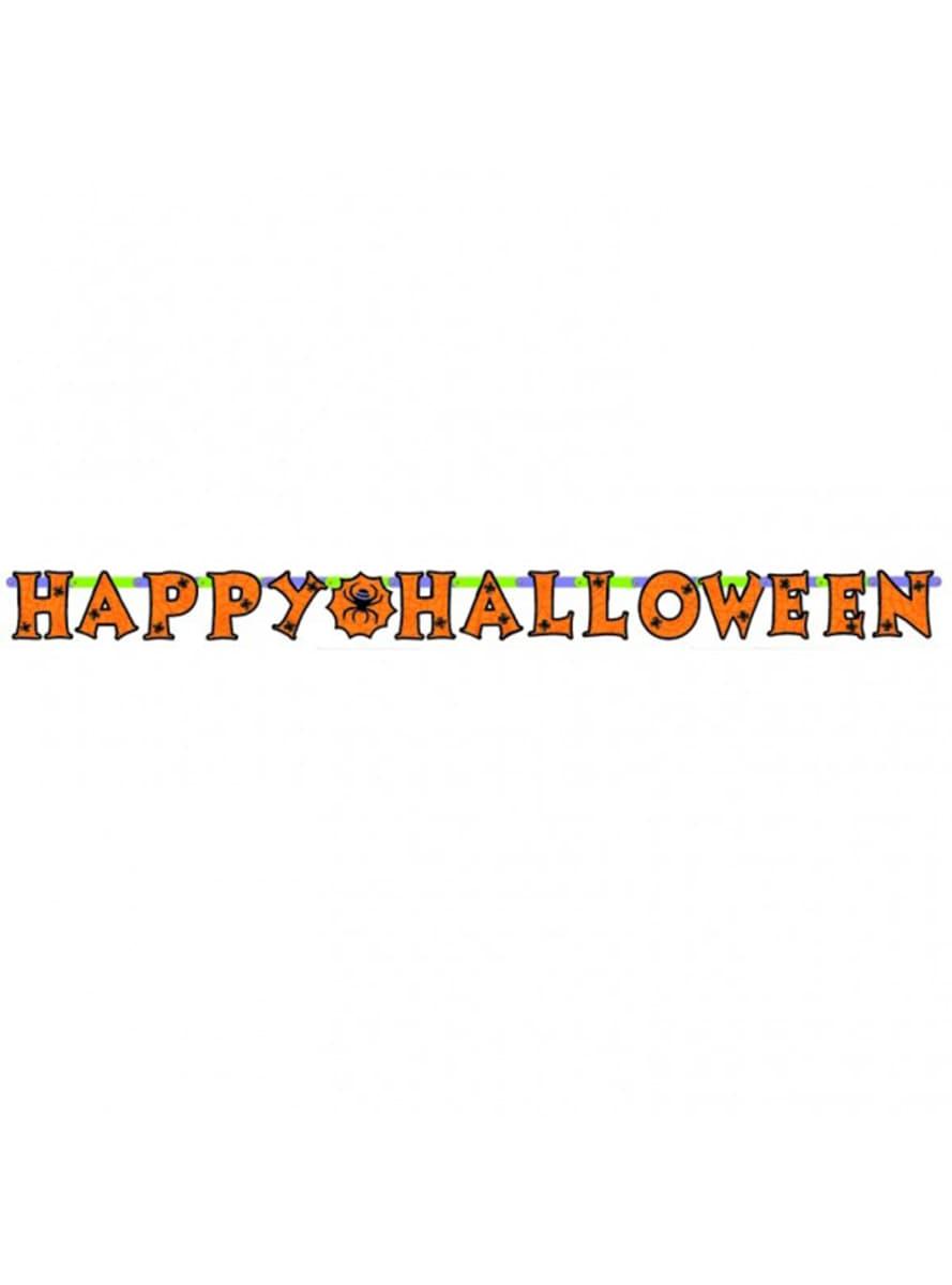 Guirlande d 39 araign es happy halloween acheter en ligne sur funidelia - Guirlande d halloween ...
