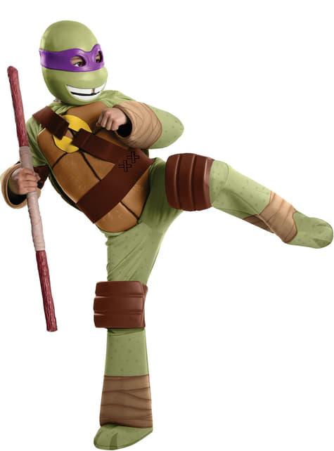 Teini-ikäiset mutanttininjakilpikonnat Donatello -asu pikkulapsille