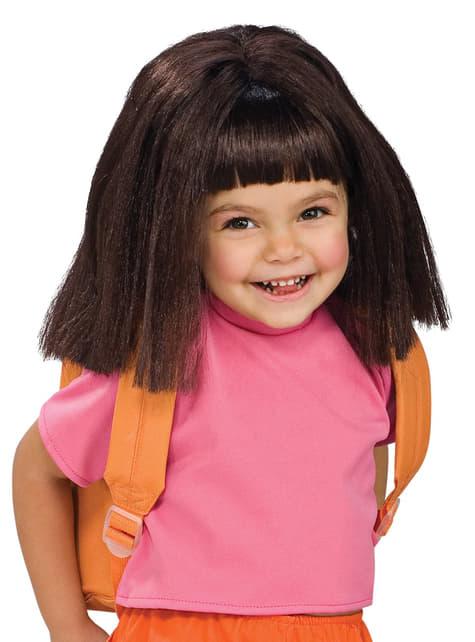 Perruque Dora l'Exploratrice pour fille