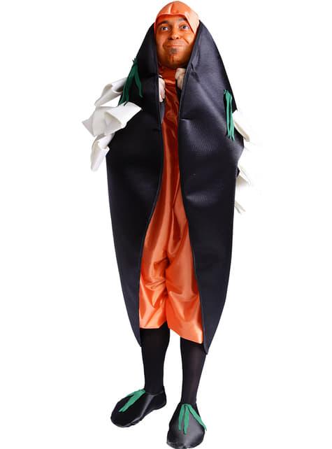 Costum de scoică colorată