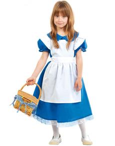 Kostuum Alice in bosland voor meisjes