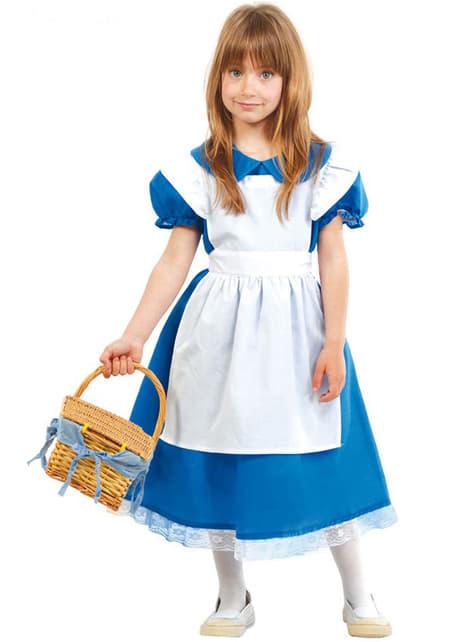 Wunderbare Alice Kostüm für Mädchen Classic