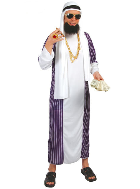 Fato de Sheikh azul e branco