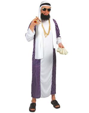Blauw wit sjeik kostuum
