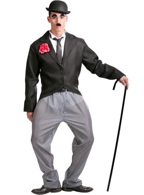 Charlie Chaplin Charlot Kostyme til Menn