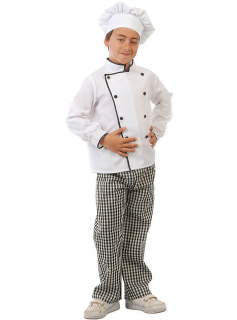 Costum de bucătar chef pentru copii
