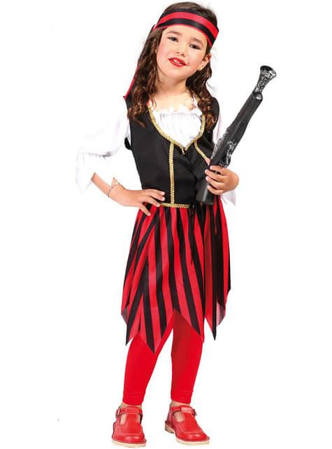 Girls Red Corsair Pirate Costume