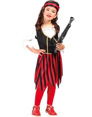 Rød Corsair Pirat Kostyme Jente