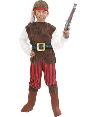 Korsar Piraten Kostüm rot für Jungen
