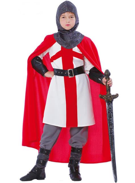 Disfraz de caballero cruzado para niño
