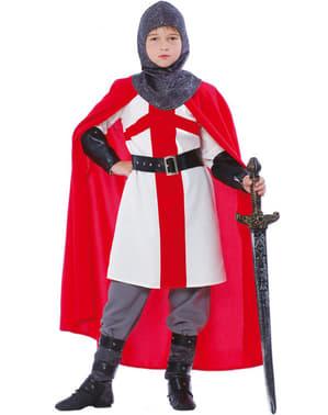 Fato de cavaleiro cruzado para menino
