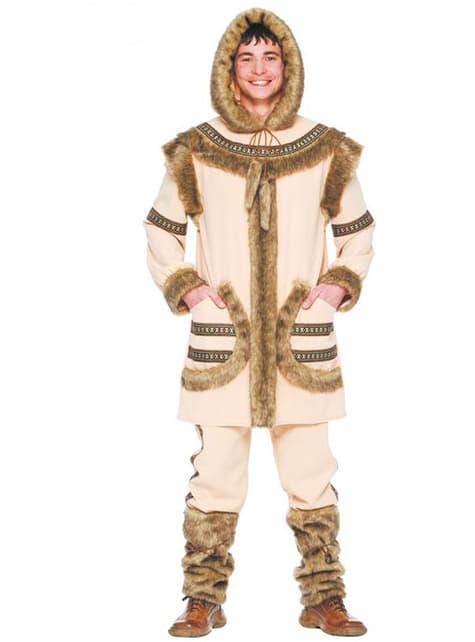 Eskimo kostume brunt til mænd