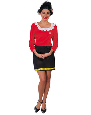 Дамски червен костюм за моряци