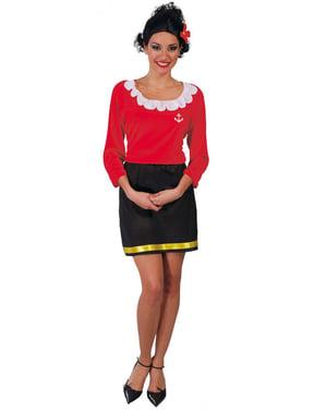 Disfraz de mujer marinera delgaducha