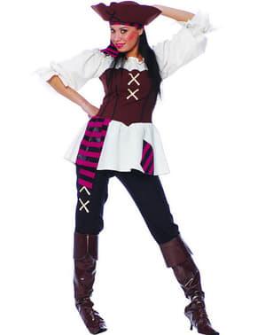 Fato de pirata dos 7 mares para mulher