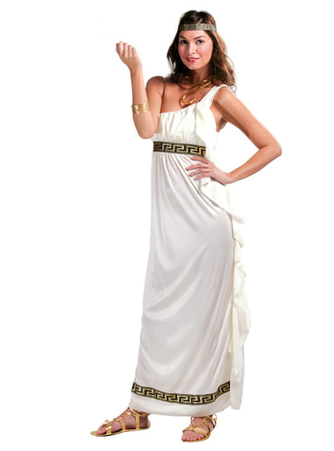 Græsk gudinde fra Olympus kostume