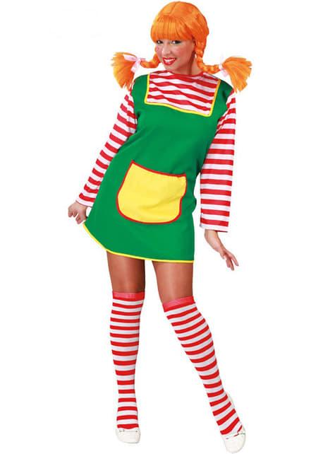 Crvena pletenica djevojka kostim