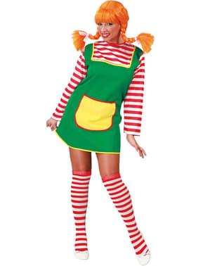 Red braids girl costume