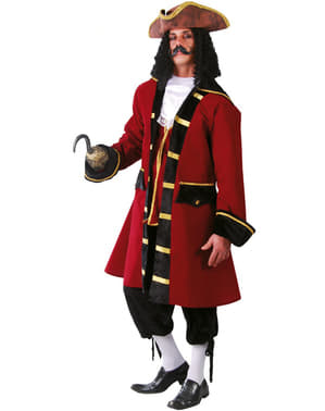 Piraten Kapitän Kostüm Rot