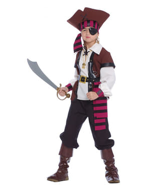 Costume da pirata corsara piratessa bambina