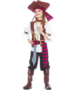 Costume da pirata dei 7 mari per bambina