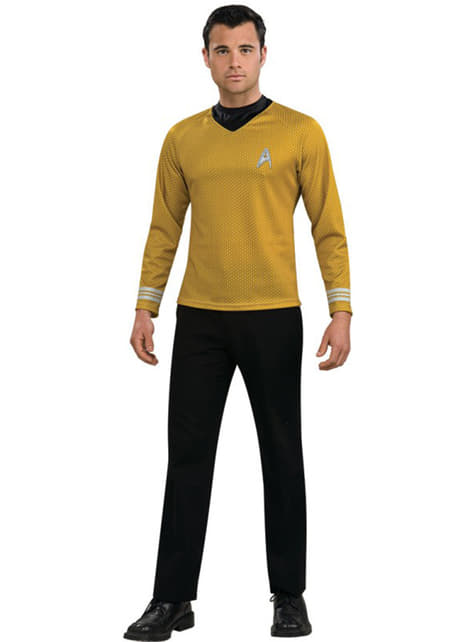 Star Trek קפטן קירק זהב למבוגרי תלבושות