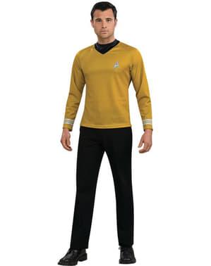 Fato de Star Trek Capitão Kirk dourado